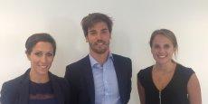 Le manager du bureau, Gabin Marrot, et son équipe de consultantes spécialisées composée de Margaux Soyeux (junior industrie) et Pauline Bonfort (BTP).