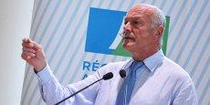 Alain Rousset, président du Conseil régional d'Aquitaine, lors de sa conférence de presse de rentrée