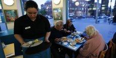 Les contrats zéro heure sont particulièrement répandus dans les secteurs de l'hôtellerie et de la restauration, des services aux personnes et de l'éducation.(ici un restaurant au nord de Londres).