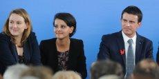 Najat Vallaud-Belkacem lors de la visite de Manuel Valls à Lyon le 11 mai dernier