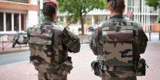 Des soldats dans le centre-ville de Toulouse, en septembre 2015