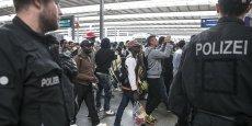 Acceuil des réfugiés à Munich le 6  septembre.
