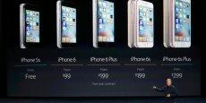 Présentation de la gamme des iPhone, du 5S au 6S Plus.