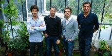 Associés Les Grappes (de gauche à droite) : Baptiste Tignol, Quentin Mathis, Loic Tanguy, Nicolas Gravellier