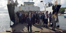 Le président Francois Hollande en visite à Mayotte pendant la campagne présidentielle de 2012.