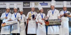 Laurent Lemal (au centre) s'impose au terme de cette 16e édition du Bocuse d'Or France