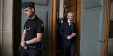 François Pérol, à sa sortie du tribunal, après sa relaxe, en septembre 2015. Le président du directoire de BPCE doit comparaître à partir de mercredi devant la cour d'appel de Paris.