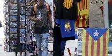 Objets indépendantistes à Barcelone.