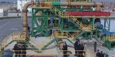 En octobre 2014 a été inaugurée la la station terminale du slurry pipeline (l'acheminement hydraulique de la pulpe de phosphate) reliant lessive de production de Khouribga au complexe industriel de Jorf Lasfar, où est située la première usine d'acide phosphorique alimentée par la pulpe de phosphate. (Capture vidéo OCP)