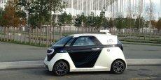 La Link & Go d'Akka Technologies est un des rares prototypes du salon ITS à rouler en totale autonomie en milieu urbain.