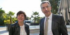 Carole Delga et Dominique Reynié à l'AG de la FRTP à Toulouse