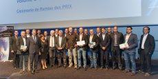 Les lauréats 2015, entourés des organisateurs et des partenaires de la soirée
