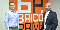 Marc Leverger et Julien Boué, cofondateurs de Brico Privé.