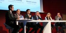 Olivier Colas, Julien Cotteverte, Philippe Guyard, Valérie Jimenez et Vincent Lemaire étaient les invités de la table ronde.