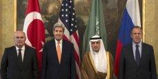Russes, Etatsuniens, Saoudiens et Turcs se sont retrouvés à Vienne pour des discussions sur la Syrie vendredi 23 octobre.