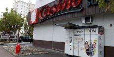 Les Abricolis d'InPost sont généralement positionnés à proximité immédiate de grandes surfaces (Ici Casino de Bordeaux - Le Bouscat) et/ou de stations essence.
