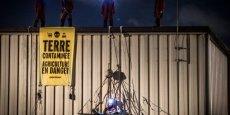 Des militants de Greenpeace ont occupés une centrale d'achats de E.Leclerc près de Toulouse dans la journée du 27 octobre. (c) Greenpeace / Pierre Baële