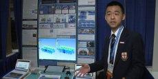 Raymond Wang lors de la présentation de son projet Aircraft Cabin Airflow