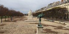 Le jardin des Tuileries à Paris, habituellement très fréquenté.