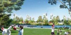 Le projet de Central Park à la française (La Courneuve) devrait être le poumon vert du Grand Paris, entouré d'éco-habitations. Un parfait exemple d'harmonie entre la ville et la nature...