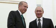 Rencontre entre Vladimir Poutine et Recep Tayyip Erdogan, le 23 septembre. en dix ans, les deux chefs d'Etat se sont rencontrés trente fois.
