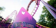 L'attraction Eqwalizer, au parc d'attractions Walibi Rhône Alpes
