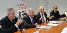 De gauche à droite : P. Patitucci (UIMM Gard-Lozère), J. Luminet (vice-président national UIMM), L. Martin (UIMM Méditerranée-Ouest) et B. Bergoeand (UIMM Midi-Pyrénées)