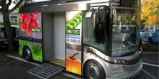 La camionnette électrique baptisée BlueTruck dispose d'une autonomie de 120 km.