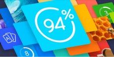 94%, signé Scimob, s'impose dans le Top 10 de l'App Store pour 2015.