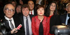 Carole Delga, dimanche 13 décembre, à Montpellier pour l'annonce des résultats.