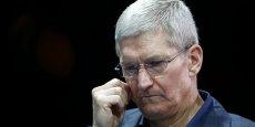 Le groupe dirigé par Tim Cook (photo) vend de moins en moins d'iPhone. Et il en va de même pour les iPad ou les Apple Watch.