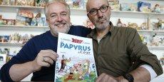 Le dernier opus des aventures d'Astérix, Le papyrus de César, publié à 2 millions d'exemplaires en français, caracole en tête des ventes depuis octobre.