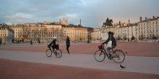 A Lyon, Franck Brédy estime que les zones cyclables sont biens mais que l'on peut encore mieux faire.