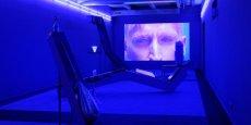 L'oeuvre d'Alex Da Corte, conçue spécialement pour la Biennale, était exposée à La Sucrière.