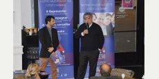 Xavier Douais (à gauche), président de la CGPME du Gard, a reçu Philippe Guillaume, vice-président national de la CGPME, lors du petit-déjeuner mensuel, jeudi 7 janvier.