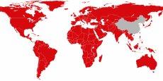 La carte de l'implantation de Netflix dans le monde, en intégrant les 130 nouveaux pays.