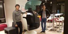 Gaspard Broustine et son associé, Gery Moulas, fondateurs de la startup Leet Design.