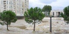 Montpellier subit régulièrement de violentes inondations.