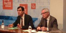 Lionel Poitevin, directeur régional de l'Ademe, et Laurent Thibaud, directeur régional délégué à Bordeaux