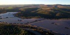 La centrale solaire au sol, Lé Camazou, située sur la commune de Villanière, dans l'Aude.