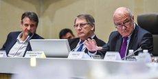 Les vice-présidents Jean-François Macaire et Gérard Vandenbroucke et le président Alain Rousset
