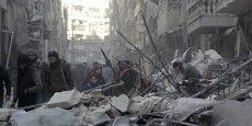 Alep, au nord de la Syrie, a été l'une des villes les plus touchées par les destructions, cumulant à elle seule près de 40% des dommages.