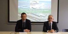 Olivier Giorgiucci, président de la FRTP L-R, et Thierry Le Friant, son homologue de la FRTP M-P
