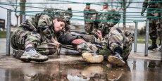 40 étudiants de l'Idrac Lyon ont passé trois jours de stage au sein du camp militaire La Valbonne.