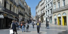 Le commerce de centre-ville (ici Montpellier) va devoir adapter ses pratiques aux nouveaux comportements des consommateurs.