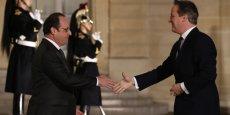 François Hollande accueille David Cameron à l'Elysée le lundi 15 février 2016.