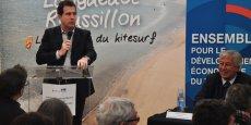 Le président de la CCI de Montpellier, André Deljarry, lors du salon des plages 2016 de La Grande Motte