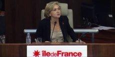 La présidente de la région Île-de-France veut imposer des critères de performance aux centres de formation d'apprentis. (Valérie Pécresse, lors de son premier discours de présidente de région, le 18 décembre 2015. Capture d'écran)