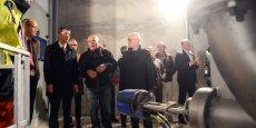 Inauguration de la turbine hydraulique du barrage du Gouffre d'Enfer