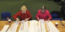 Le comptage des voix en Irlande, ce week-end. Le gouvernement a été durement sanctionné.